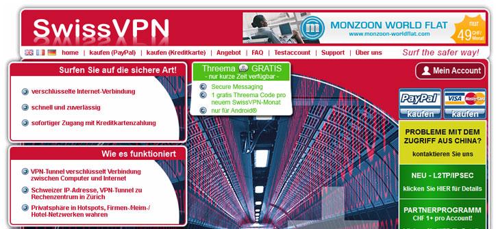 SwissVPN Startseite